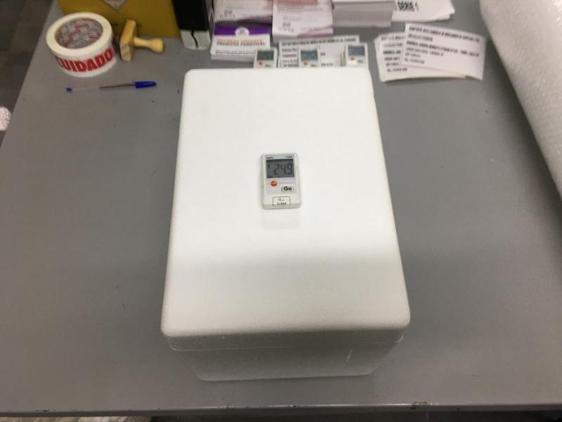 Qualificação de caixa termica