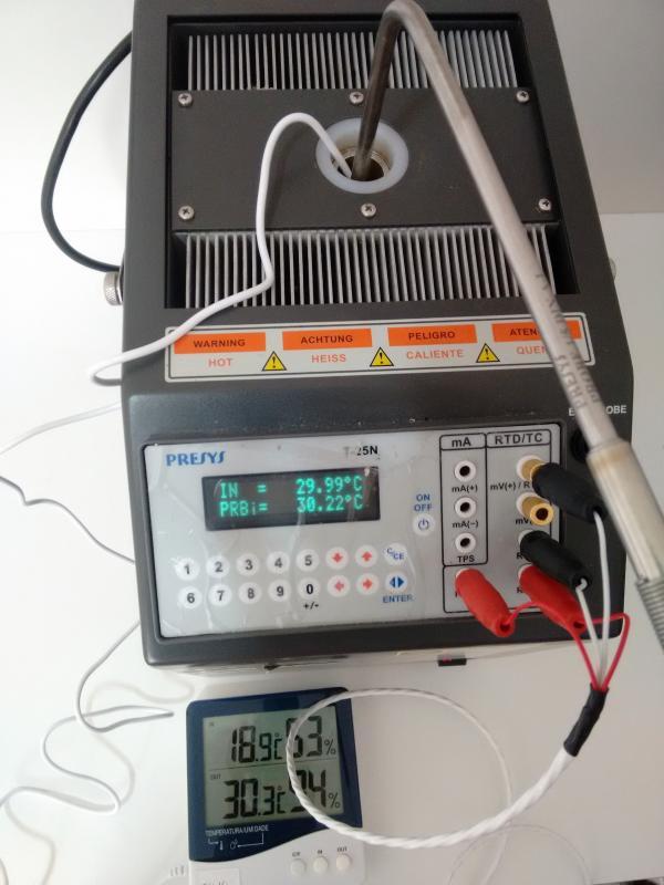 Serviço de calibração de termômetro